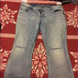 Silver plus size stretch jeans 22 regular